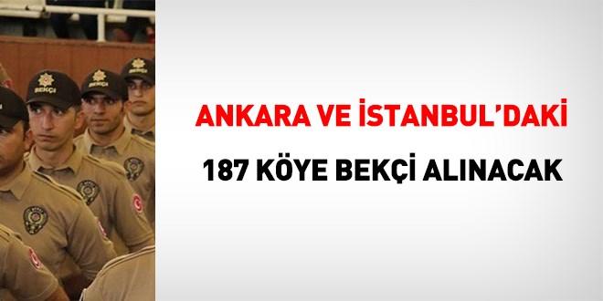 Ankara ve İstanbul İçin 187 Bekçi Alım İlanı