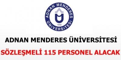 Adnan Menderes Üniversitesi 115 Sözleşmeli Personel Alacak