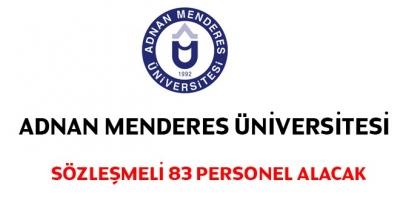 Adnan Menderes Üniversitesi Sözleşmeli 83 Personel Alacak