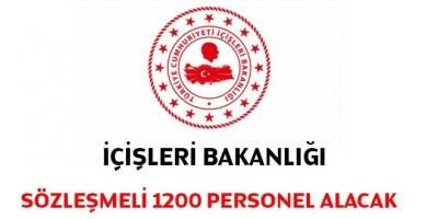 İçişleri Bakanlığı, Sözleşmeli 1200 Personel Alacak