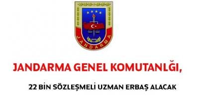 Jandarma Genel Komutanlığı 22 Bin Sözleşmeli Uzman Erbaş Alacak