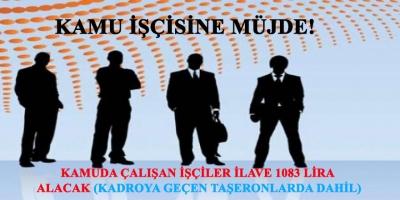 Kamu İşçisine Müjde! İlave 1083 Lira Alacaklar