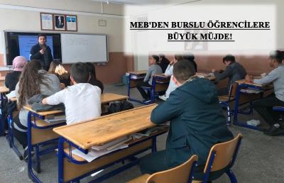 MEB'den Burslu Öğrencilere Büyük Müjde!
