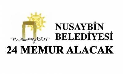 Nusaybin Belediyesi 24 Memur Alacak