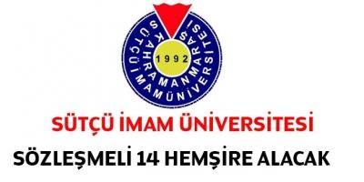 Sütçü İmam Üniversitesi Sözleşmeli 14 Hemşire Alacak